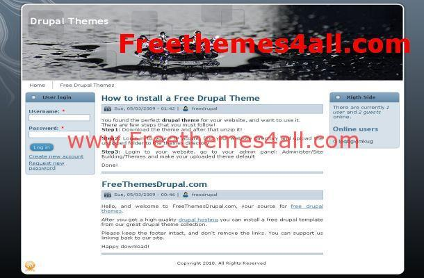 Business Black Drupal Theme