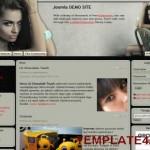 Sexy Celebrity Gray Joomla Template