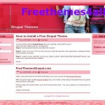Pink Drupal 6 Fashion Theme Download