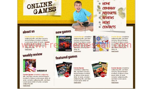 Free HTML Online Kids Games Website Template