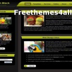 Green Black CSS Template Download