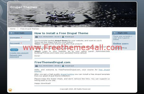 Free Blue Black Drupal Business Theme