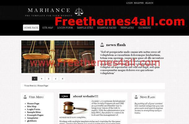 Black Lawyer Joomla Theme
