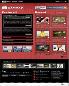 Groovy Videos Sharing Red Wordpress Theme
