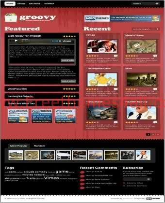 Groovy Videos Sharing Red Wordpress Theme