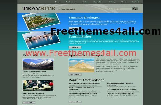 Travel CSS Website Template