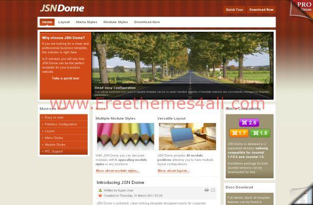 Wooden Business Free Joomla 1.6 Theme Template
