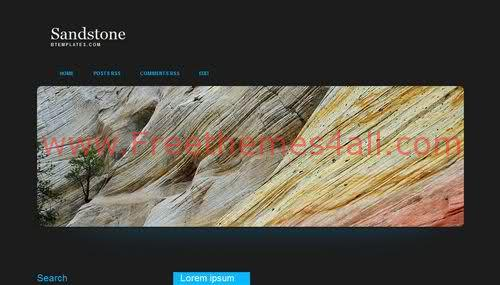 Free Blogger Mountaine Stone Black Web2.0 Template