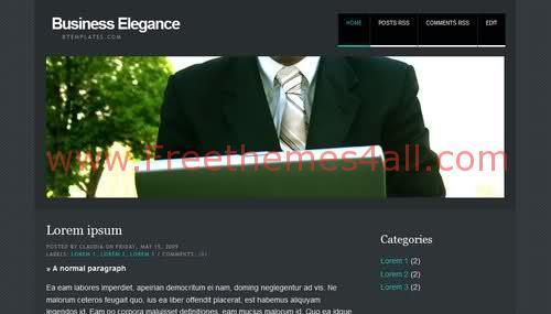 Free Blogger Elegance Business Blog Web2.0 Template