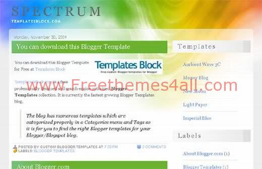 Multicolored Wave Blogger Template