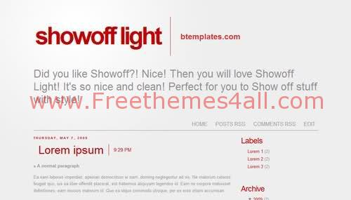 Free Blogger Gray Silver Red Web2.0 Template