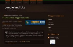 JungleLand Brown Blogger Template