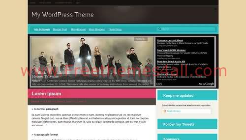 Free Blogger Pink Online Magazine Web2.0 Template