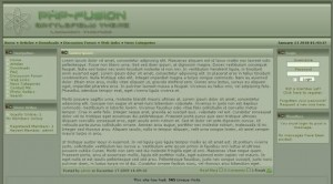 Green Battlefield Php-fusion Theme