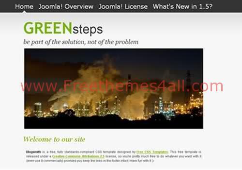 Free Joomla White Green Web2.0 Theme Template