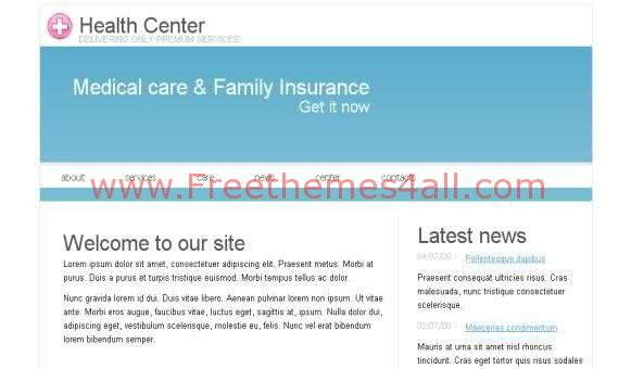 Free CSS Health Care White Web2.0 Template