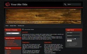 Black Wood Free Joomla Theme