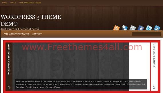 Brown Wood Wordpress Theme