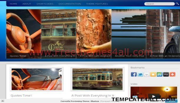 Blastme Business Blue WordPress Theme