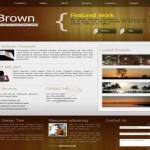 Portfolio Brown CSS Template