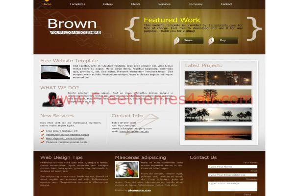 portfolio brown css template free download