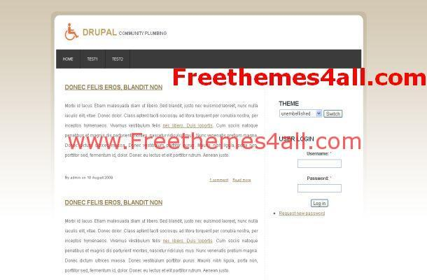 Business Free Drupal 6 Themes