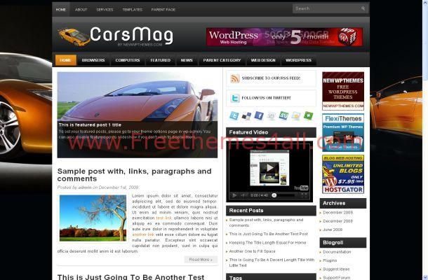 News Magazine Free Wordpress Theme