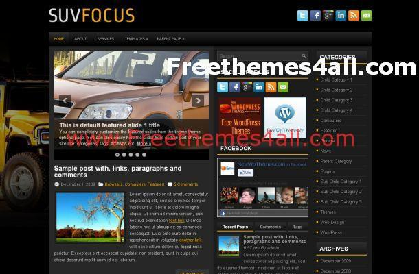Cars News Wordpress Theme