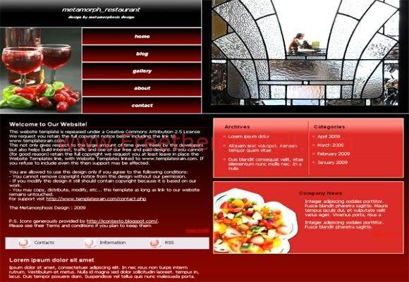 Restaurant Hotel CSS Template