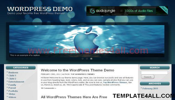 Black Blue Free Wordpress Theme