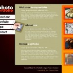 Black Orange Website Template