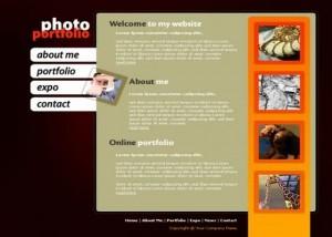 Black Orange Website Template
