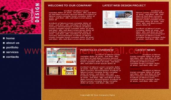 Free Flash Business Company Network Red Template