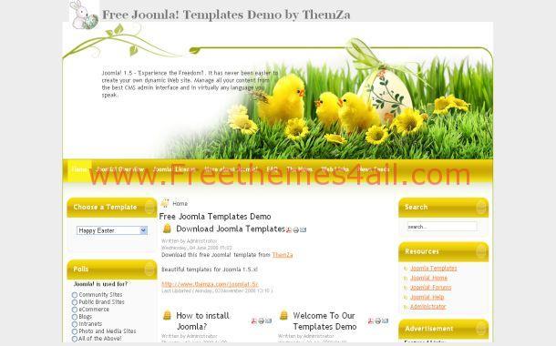 Easter Free Joomla Theme