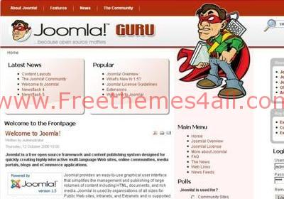 Computers Red Joomla Template