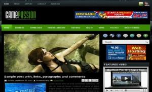Black Games Blogger Template