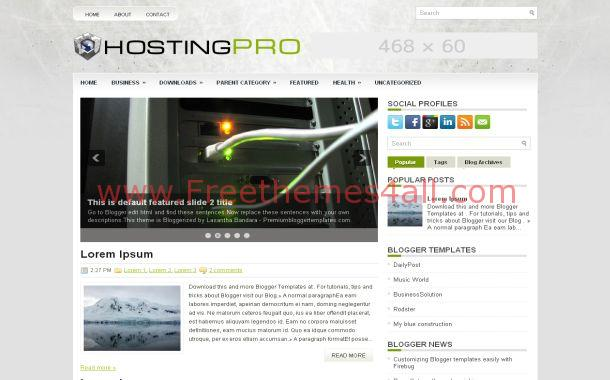 Free Web Hosting Blogger Theme