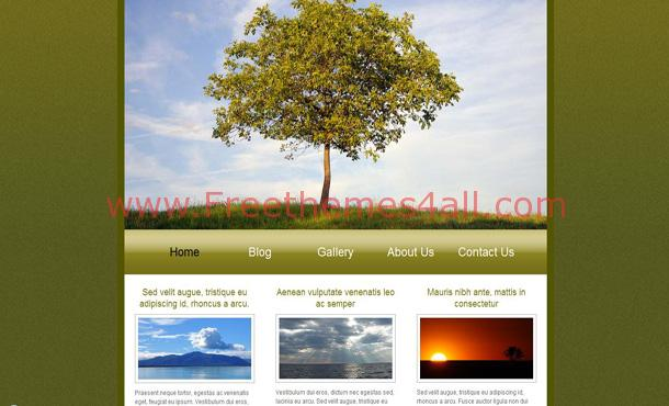 Free CSS Green Nature Website Template