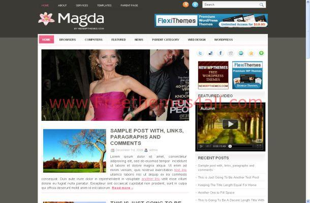 Pink Wordpress Celebrity Theme
