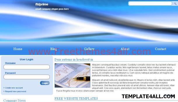 Blue CSS Website Template