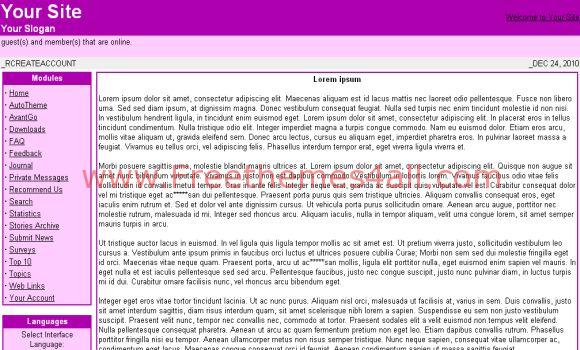 Purple Phpnuke Theme
