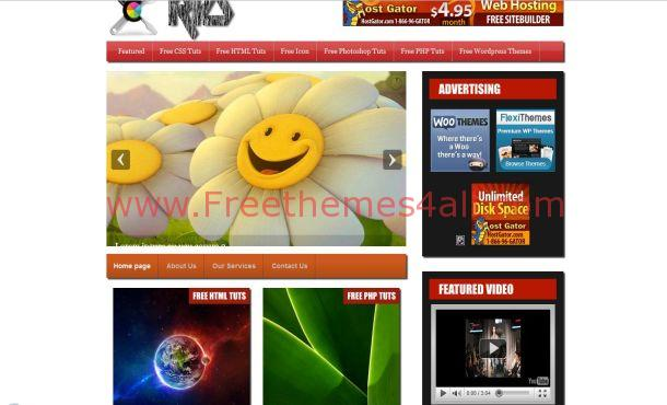 Black Jquery Wordpress Theme
