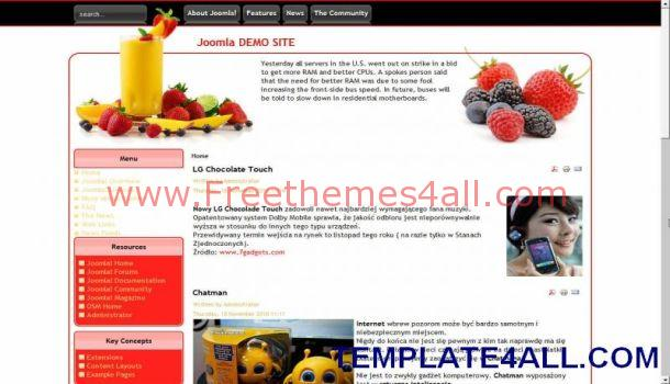Fruits Joomla Template