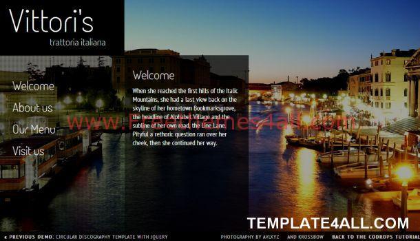 Black Restaurant Jquery Website Template