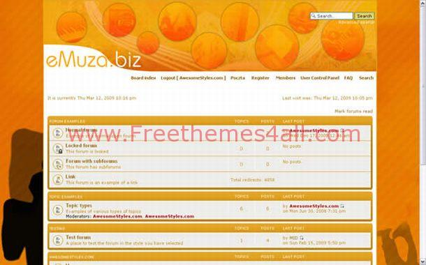 Orange Free Php-fusion Theme