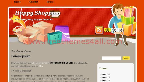 Gray Shop Blogger Template