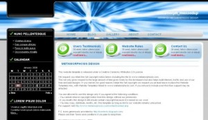 Black Blue Technology CSS Template