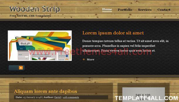 Wood Black Textured Website Template