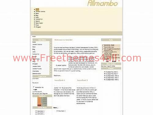 Free Joomla Flash Mambo Yellow Template