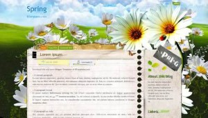 Spring Flowers Blogger Template